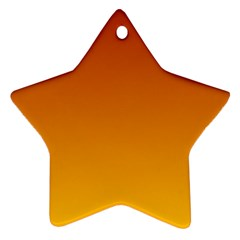 Mahogany To Amber Gradient Star Ornament (Two Sides)