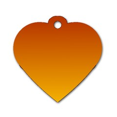 Mahogany To Amber Gradient Dog Tag Heart (two Sided)