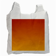 Mahogany To Amber Gradient Recycle Bag (one Side)