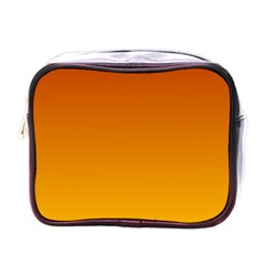 Mahogany To Amber Gradient Mini Travel Toiletry Bag (one Side)