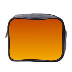 Mahogany To Amber Gradient Mini Travel Toiletry Bag (Two Sides)