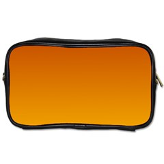 Mahogany To Amber Gradient Travel Toiletry Bag (one Side)