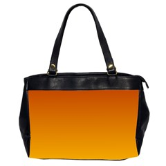 Mahogany To Amber Gradient Oversize Office Handbag (two Sides)