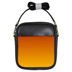 Mahogany To Amber Gradient Girl s Sling Bag