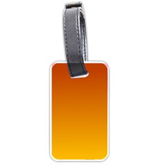 Mahogany To Amber Gradient Luggage Tag (Two Sides)