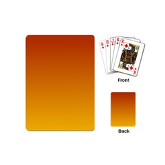 Mahogany To Amber Gradient Playing Cards (mini)