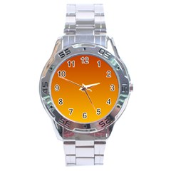 Mahogany To Amber Gradient Stainless Steel Watch (men s)