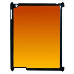 Mahogany To Amber Gradient Apple Ipad 2 Case (black)