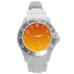 Mahogany To Amber Gradient Plastic Sport Watch (large)