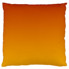 Mahogany To Amber Gradient Large Cushion Case (one Side)