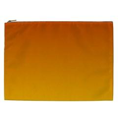 Mahogany To Amber Gradient Cosmetic Bag (xxl)