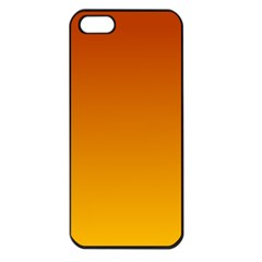 Mahogany To Amber Gradient Apple iPhone 5 Seamless Case (Black)