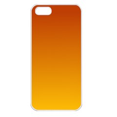 Mahogany To Amber Gradient Apple Iphone 5 Seamless Case (white)