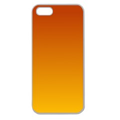 Mahogany To Amber Gradient Apple Seamless Iphone 5 Case (clear)