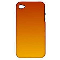 Mahogany To Amber Gradient Apple Iphone 4/4s Hardshell Case (pc+silicone)