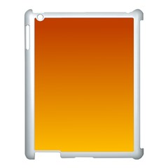 Mahogany To Amber Gradient Apple iPad 3/4 Case (White)