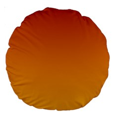 Mahogany To Amber Gradient 18  Premium Round Cushion