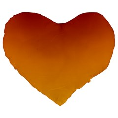 Mahogany To Amber Gradient 19  Premium Heart Shape Cushion