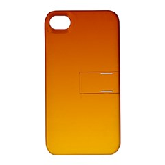Mahogany To Amber Gradient Apple iPhone 4/4S Hardshell Case with Stand