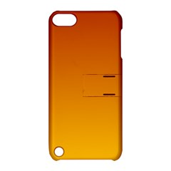 Mahogany To Amber Gradient Apple Ipod Touch 5 Hardshell Case With Stand