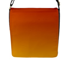 Mahogany To Amber Gradient Flap Closure Messenger Bag (large)