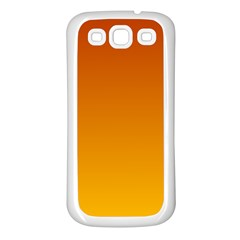 Mahogany To Amber Gradient Samsung Galaxy S3 Back Case (white)