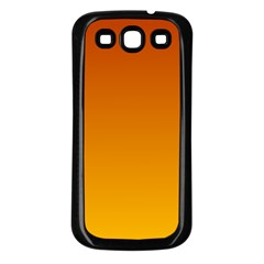 Mahogany To Amber Gradient Samsung Galaxy S3 Back Case (Black)