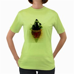 Japon! Womens  T Shirt (green)