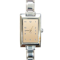 Champagne To Tan Gradient Rectangular Italian Charm Watch