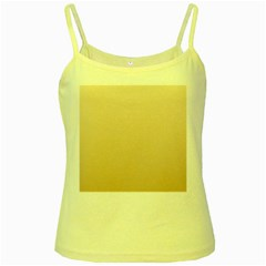 Champagne To Tan Gradient Yellow Spaghetti Tank