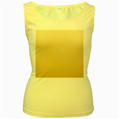 Champagne To Tan Gradient Womens  Tank Top (Yellow)