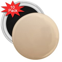 Champagne To Tan Gradient 3  Button Magnet (10 pack)