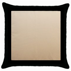 Champagne To Tan Gradient Black Throw Pillow Case