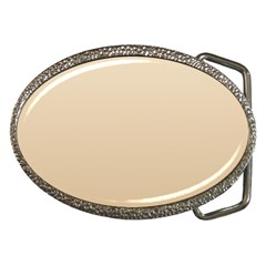 Champagne To Tan Gradient Belt Buckle (Oval)