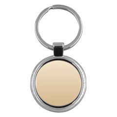 Champagne To Tan Gradient Key Chain (Round)