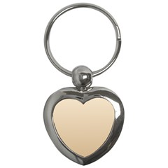 Champagne To Tan Gradient Key Chain (Heart)