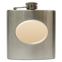 Champagne To Tan Gradient Hip Flask