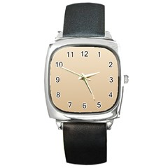 Champagne To Tan Gradient Square Leather Watch