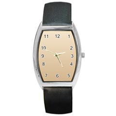 Champagne To Tan Gradient Tonneau Leather Watch