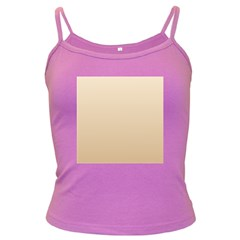 Champagne To Tan Gradient Spaghetti Top (colored)