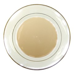 Champagne To Tan Gradient Porcelain Display Plate