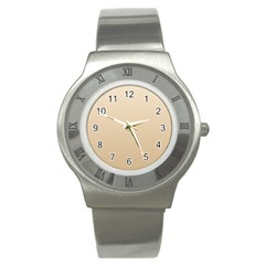 Champagne To Tan Gradient Stainless Steel Watch (unisex)