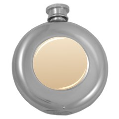 Champagne To Tan Gradient Hip Flask (Round)