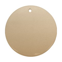 Champagne To Tan Gradient Round Ornament (two Sides)