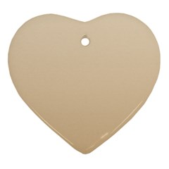 Champagne To Tan Gradient Heart Ornament (Two Sides)