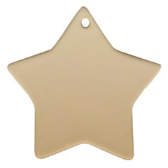 Champagne To Tan Gradient Star Ornament (two Sides)