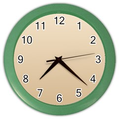 Champagne To Tan Gradient Wall Clock (Color)