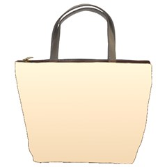 Champagne To Tan Gradient Bucket Bag
