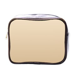 Champagne To Tan Gradient Mini Travel Toiletry Bag (One Side)