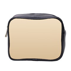 Champagne To Tan Gradient Mini Travel Toiletry Bag (two Sides)